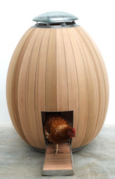 A beautiful, prefabricated hen-house